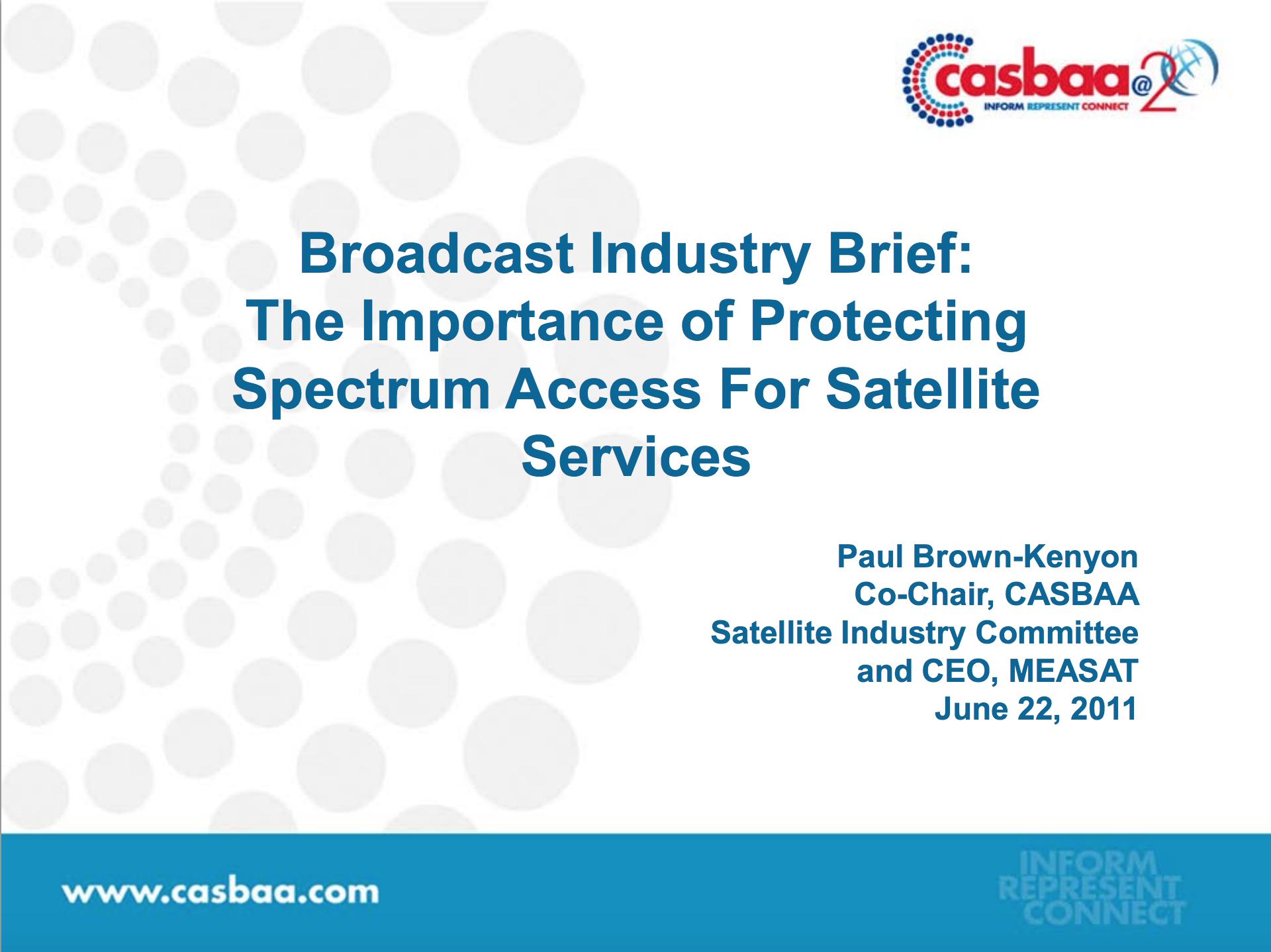 Broadcast Industry Brief
