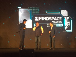 Punit Goenka, MD & CEO, ZEEL and Prashant Singh, MD-South Asia, Nielsen at ZEE Mindspace Awards 2016