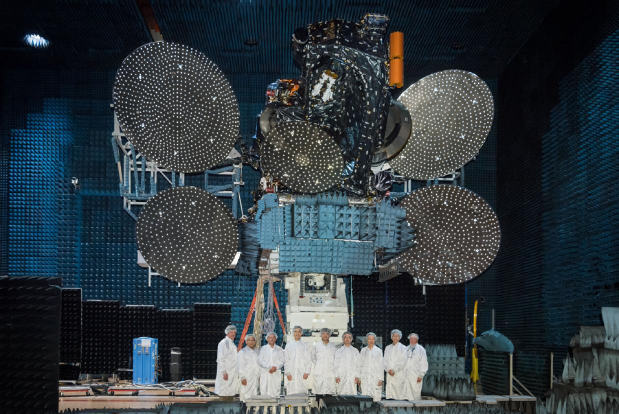 AsiaSat 9 successfully completes testing at SSL's Compact Antenna Test Range (CATR) facility
