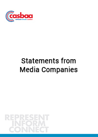 Statements from Media Companies