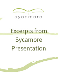 Excerpts from Sycamore Presentation